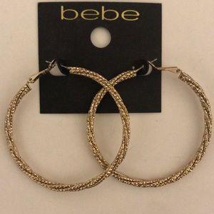 Bebe gold hoops